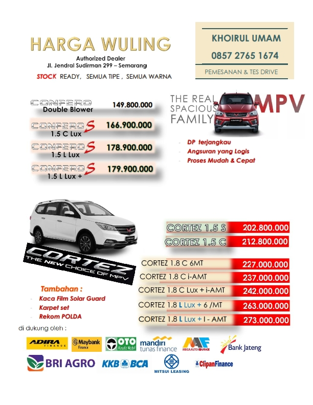Harga Mobil Wuling By Khoirul